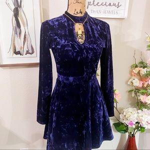 Crushed velvet amethyst princess dress